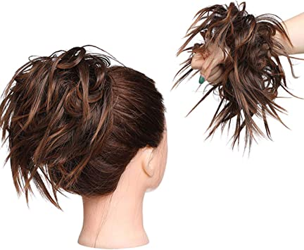 Xxl Postiche Cheveux En Caoutchouc Chouchou Chignons Volumineux Bouclés Ou Chignon Décoiffé Extension A Clip Cheveux Naturel Auburn Lumière à Marron Amazon Fr Beauté Et Parfum