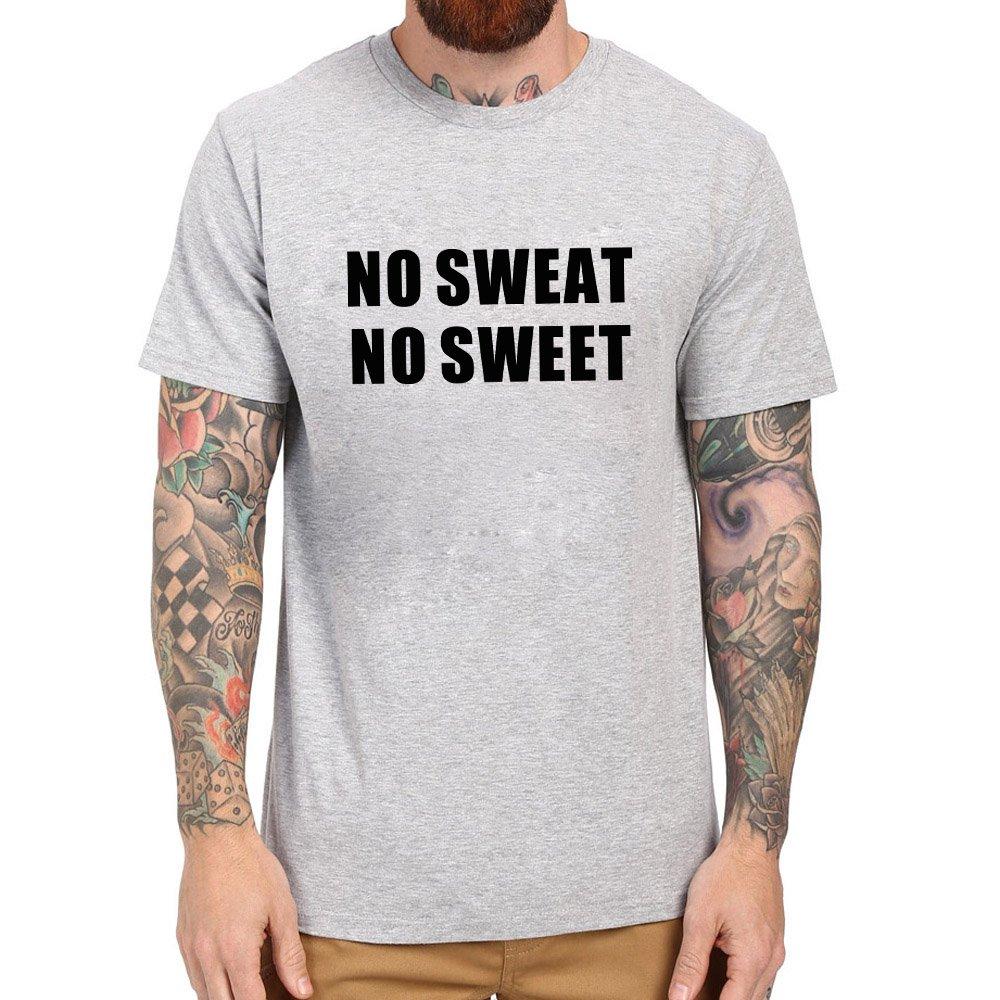 Loo Show No Sweat No Sweet Casual T Shirts Tee