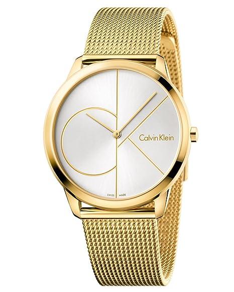 Calvin Klein Reloj Analogico para Hombre de Cuarzo con Correa en Acero Inoxidable K3M21526: Amazon.es: Relojes