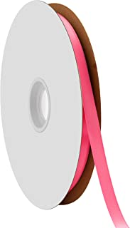 "product image for Offray Berwick 3/8"" Single Face Satin Ribbon, Hot Pink, 100 Yds"