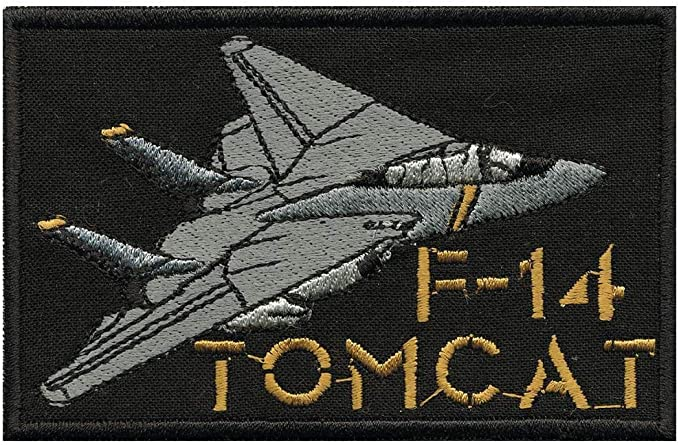 03162 nuovo militare Esercito Army Military dellesercito armardi Marine Applicazione toppa con logo in gomma haifischtech islandese F-14 Tomcat misura circa 11 cm x 6,5 cm