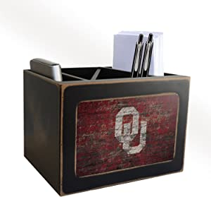 Fan Creations NCAA Oklahoma Sooners Distressed Team Logo Desktop Organizer with Color