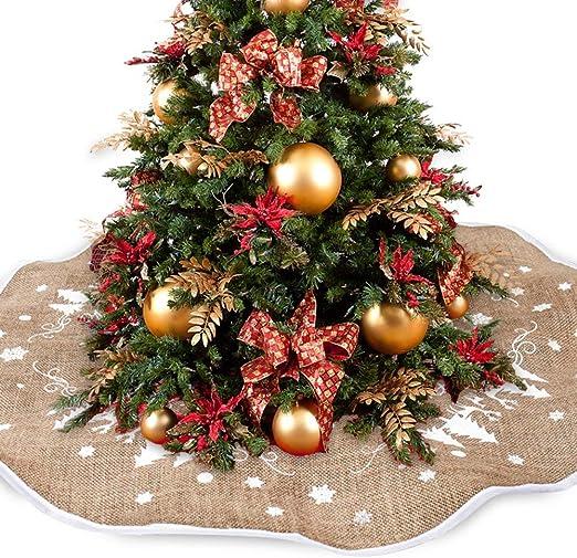 Marysa Arbol de Navidad arbol de Navidad Falda Yute Cubre Navidad ...
