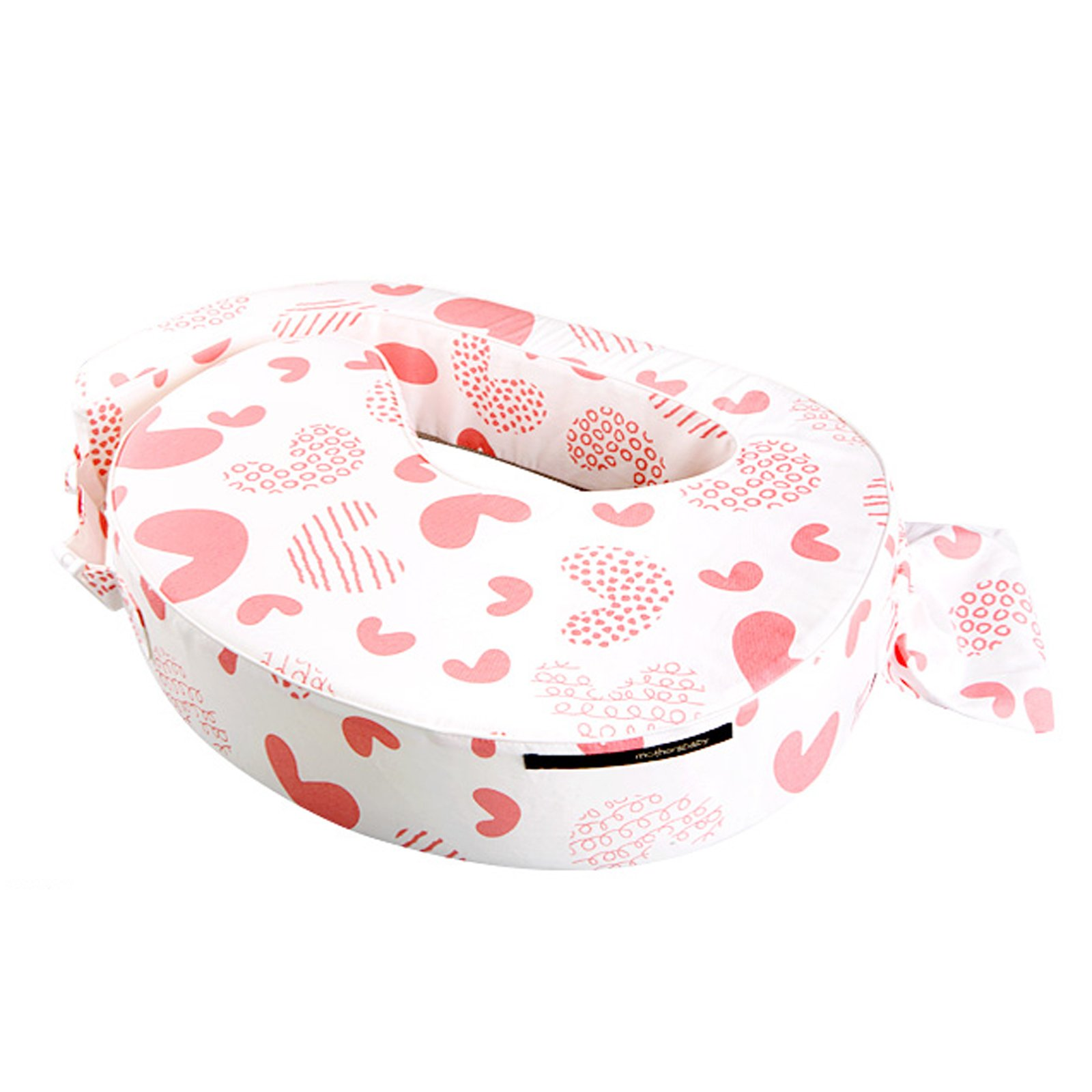 NEW Mothers Baby Love B Standard Size Breast Feeding Pillow Cushion Cotton 100% (+Inside Cover, Coral)