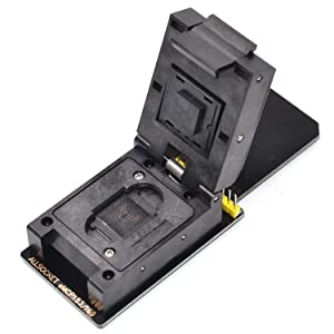 ALLSOCKET BGA169 BGA153 Reader eMMC153+169 Adapter FBGA153-169 Ball Programmer for Toshiba KMVTU000LM-B503 THGBM5G7A4JBA4W Skhynix Memory Reading/Writing with SD Interface(eMMC-SD Adapter)