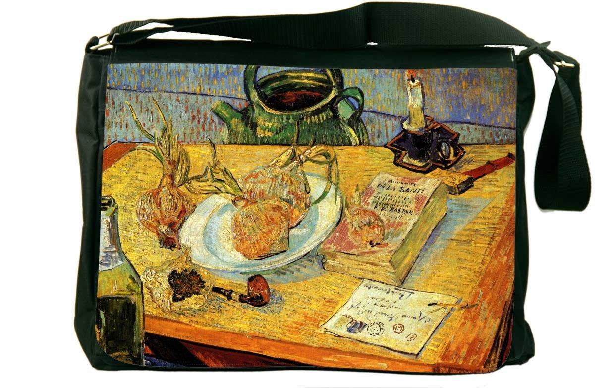 Rikki Knight Van Gogh Art Still Life Board Pipe Messenger Bag School Bag