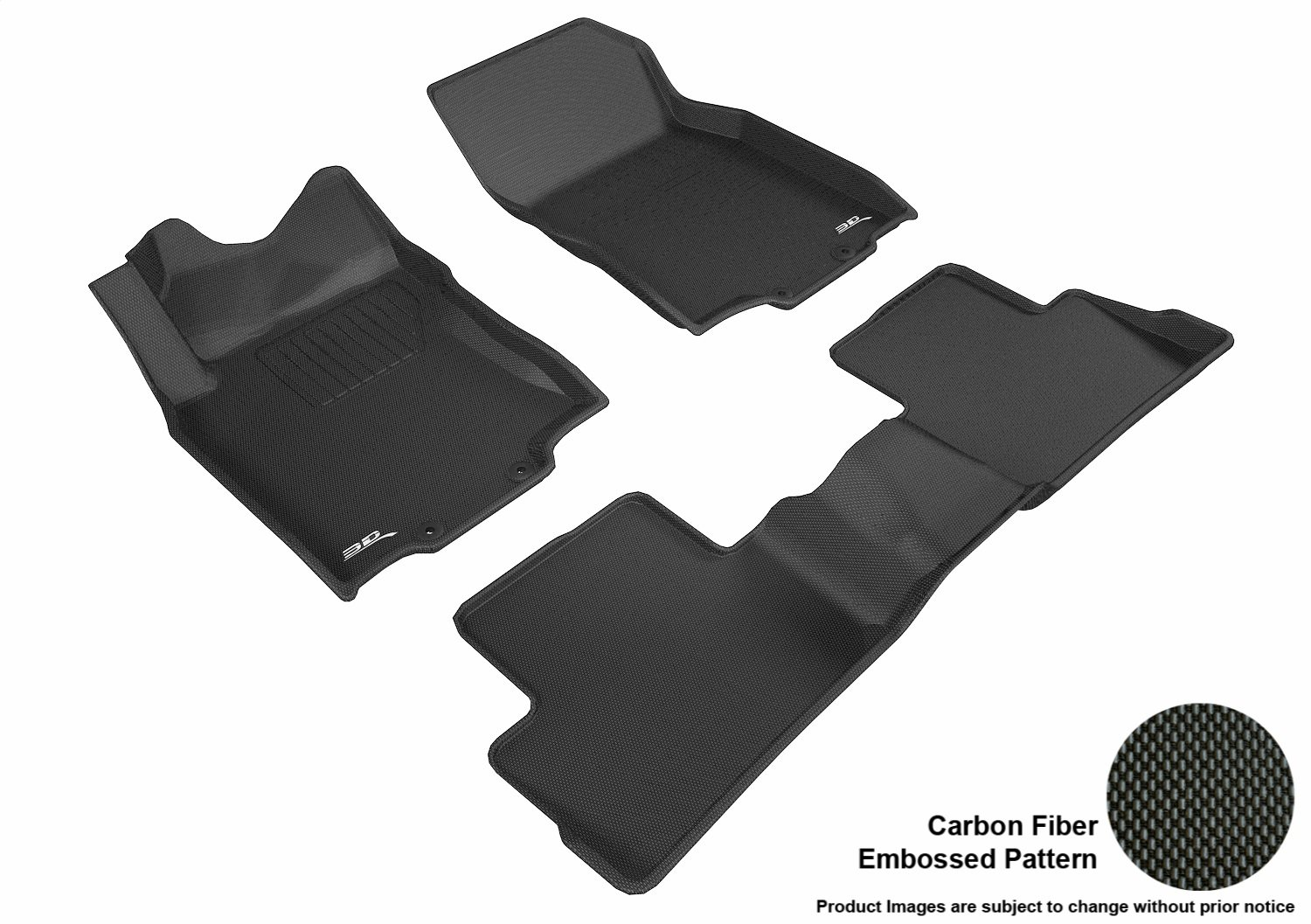 Kagu Rubber Gray 3D MAXpider Complete Set Custom Fit All-Weather Floor Mat for Select Nissan Rogue Models