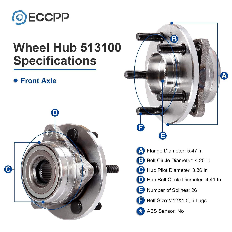 Bearings & Seals ECCPP Replacement for Wheel Bearing Hub 513100 ...