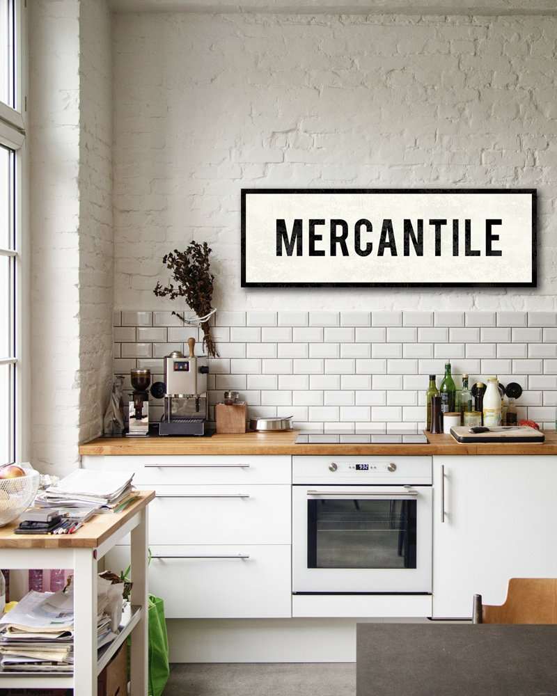 Amazon.com: Mercantile Sign, Kitchen Sign, Farmhouse Decor, Canvas ...