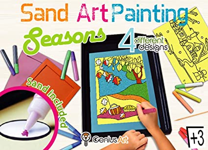 Arena Painting 8 Colors Sand Art Kit Sand Drawing Art Different Craft Toy Gift