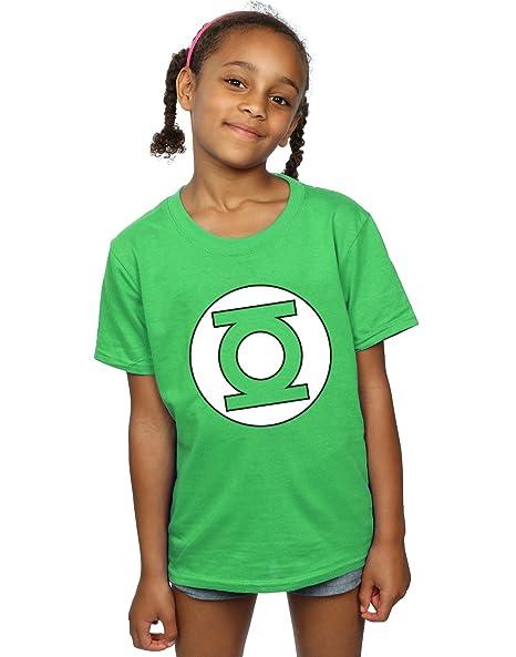 b642fa888 DC Comics Girls Green Lantern Logo T-Shirt 5-6 Years Irish Green