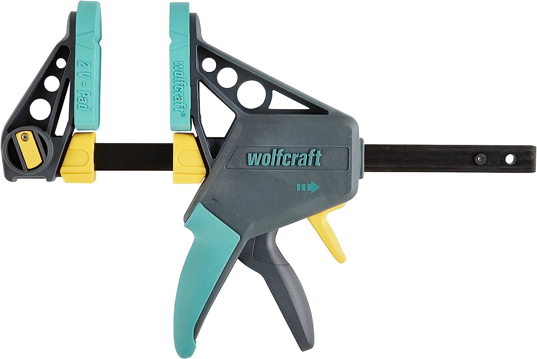 80 mm largo PACK 1 Wolfcraft 3058000SC 80-200 sargento de tornillo 80mm