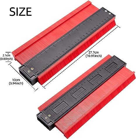 piastrelle strumenti generici duplicatore in plastica Duplicatore di contorno da 25,4 cm rosso laminato strumento standard per marcatura legno