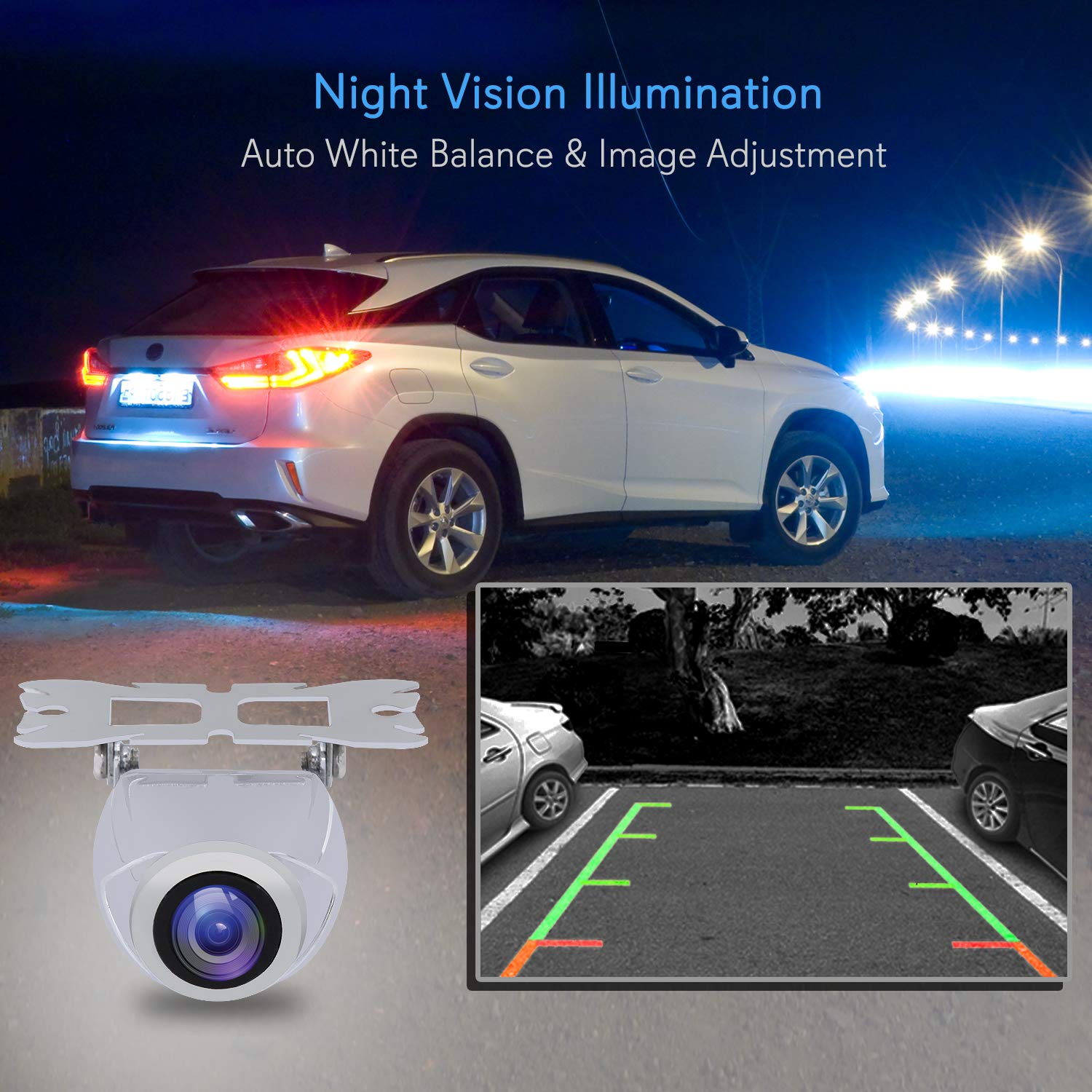 Pyle Car Rearview Backup Camera Compact Night Vision Plcm18bc Wiring Diagram Illumination Stainless Steel Waterproof Tilt Adjustable Cam Lens Angle