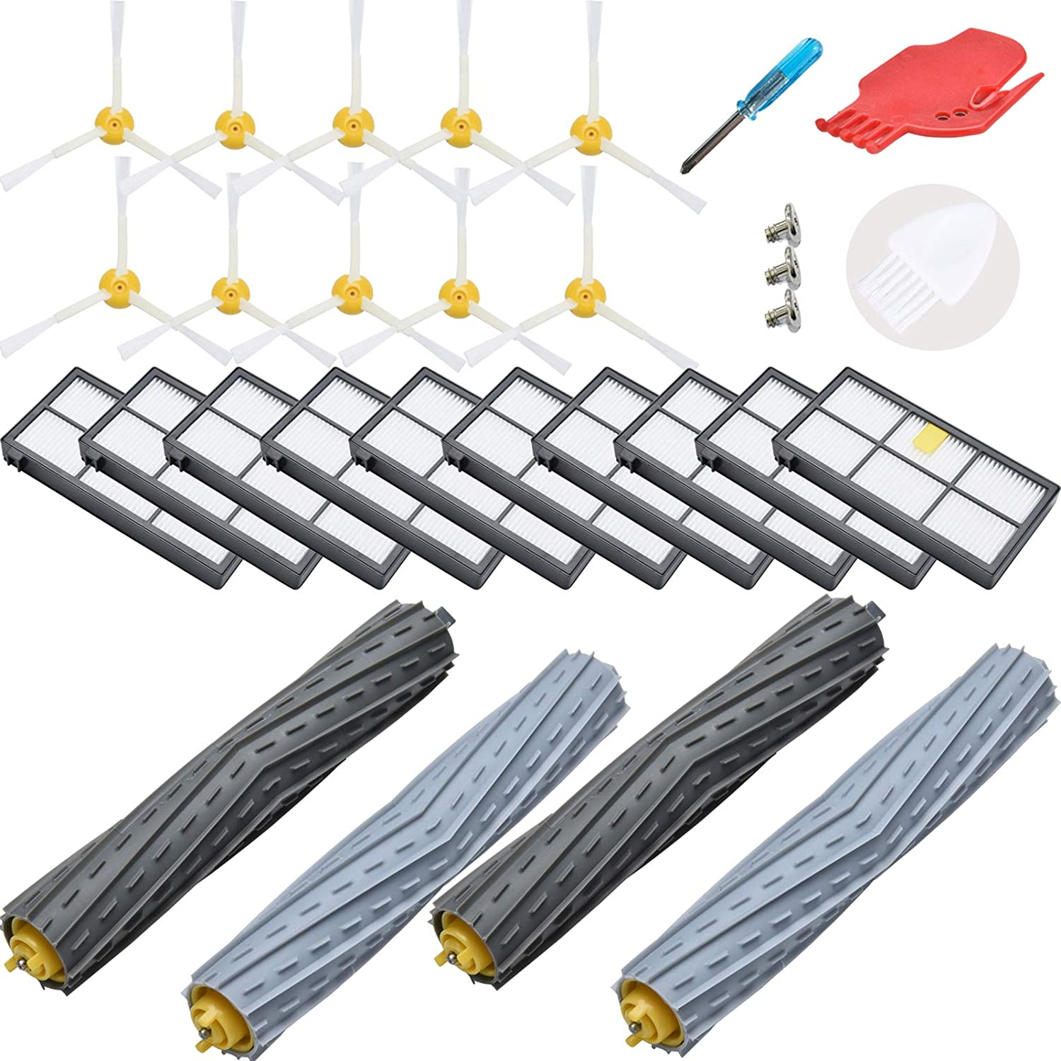 Ciyoon Replacement Parts for iRobot Roomba 860 880 805 860 980 960 Vacuums with 12 Pcs