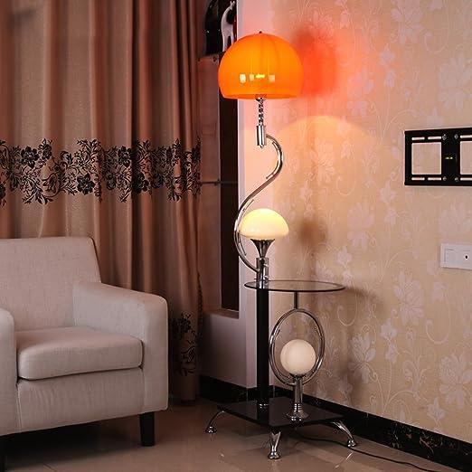 Best Wishes Shop lámpara de Piso- 167cm lámpara de pie con Mesa de café decoración lámpara Accesorios de iluminación Sala de Estar Esquina práctica lámpara estándar E27 led Standing Lamp: Amazon.es: Hogar