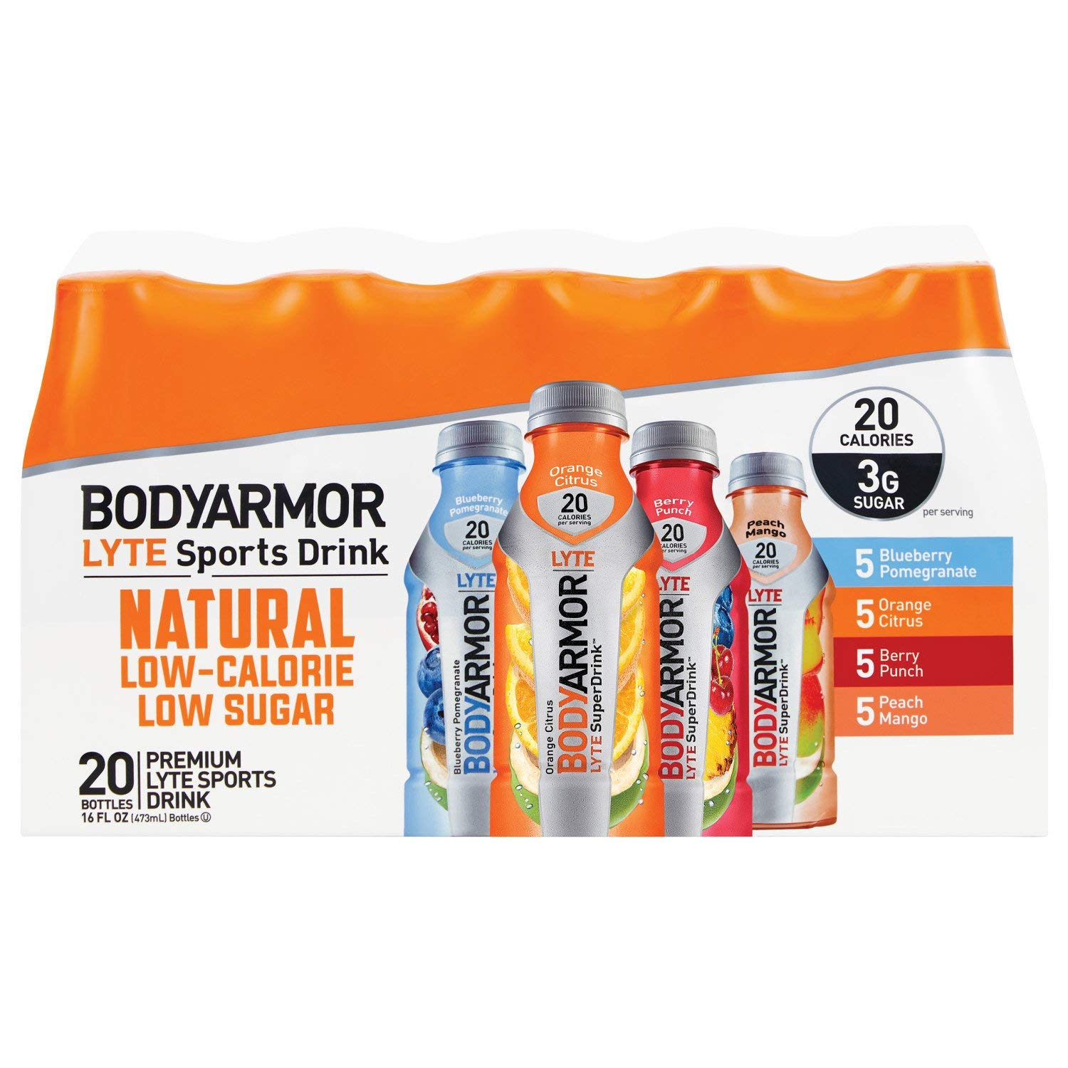 BODYARMOR LYTE Sports Drink Variety Pack (16 oz, 20 pk.)