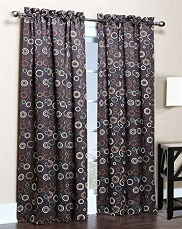 Curtains Ideas 54 curtain panels : Amazon.com: Solar Modern Print Blackout Curtain Panels - 54