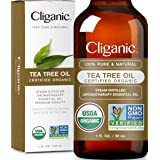 Cliganic Organic Tea Tree Essential Oil, 100% Pure Natural, Therapeutic Grade for Aromatherapy   Premium Certified Organic, N