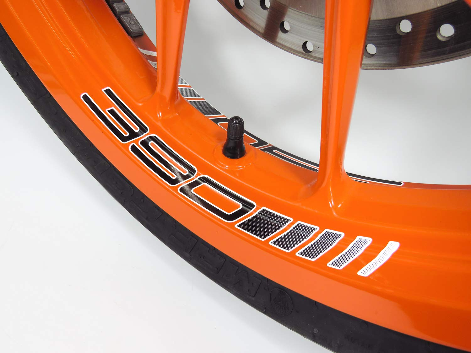 Bike Label 790084A set di 4 adesivi per cerchioni per KTM 390 Duke