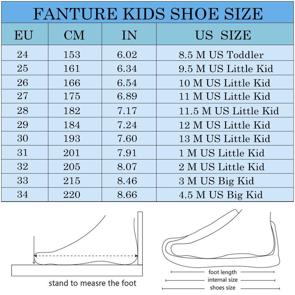 Fanture Girls & Boys Water Shoes Lightweight Comfort Sole Easy Walking Athletic Slip on Aqua Sock(Toddler/Little Kid/Big Kid) U4JSX001-Pink-33 by Fanture (Image #7)