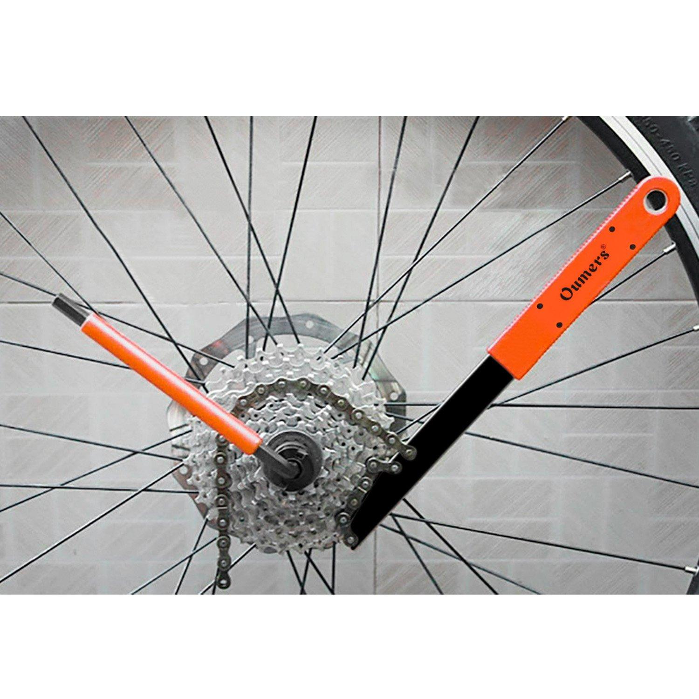 Tool Bike Bicycle Cassette Flywheel Freewheel Lockring Remover Tool Silver-.