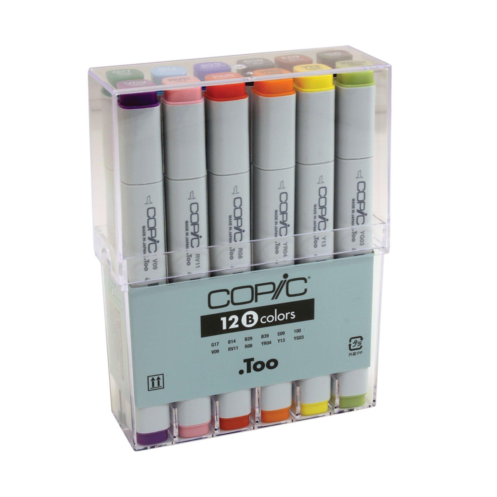 Copic Markers fibras de colores basicos set de 12