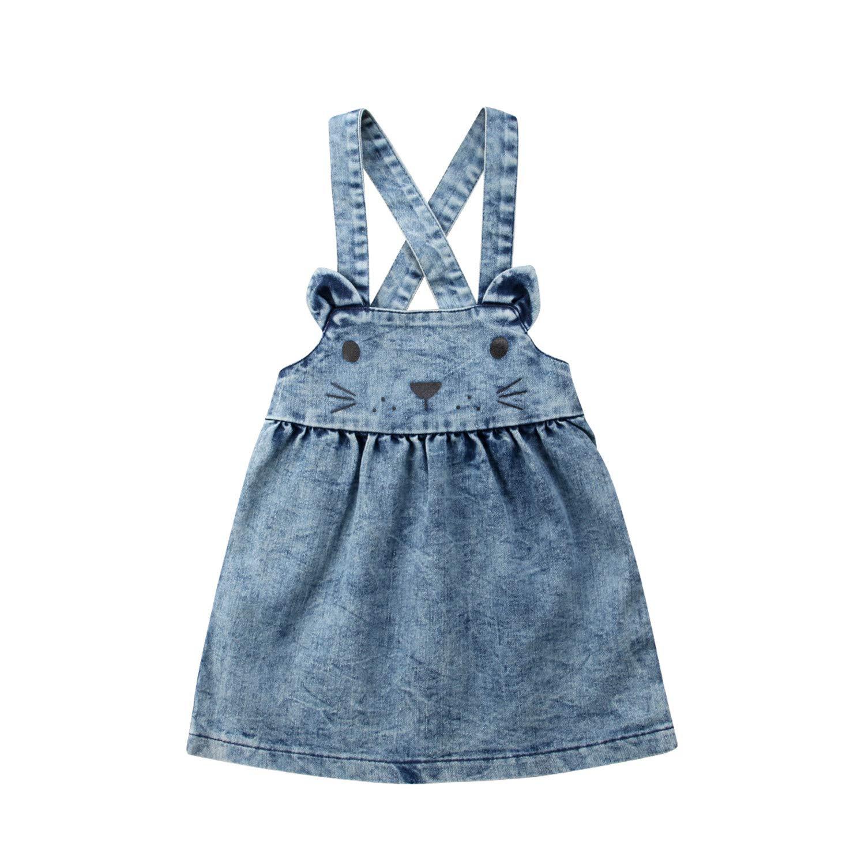 Evan Fordd Toddler Girls Bib Overalls Kids Girls Denim Overall