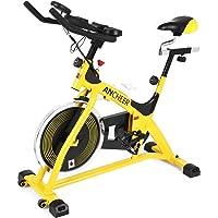 Ancheer Belt-Drive Indoor Exercise Bike (Yellow_Pulse)