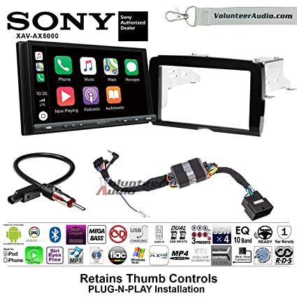 Amazon com: Sony XAV-AX5000 Double Din Radio Install Kit