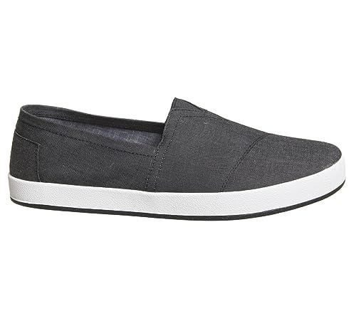 Toms Classic Black Washed Canvas Mens Espadrilles Shoes Slipons-11 j1WE2a3GWT