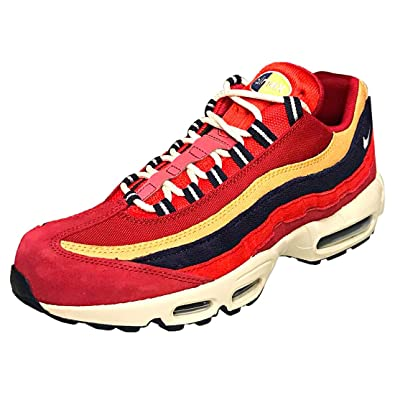 NIKE Air Max 95 PRM, Chaussures de Fitness Homme, Multicolore (Red Crush/