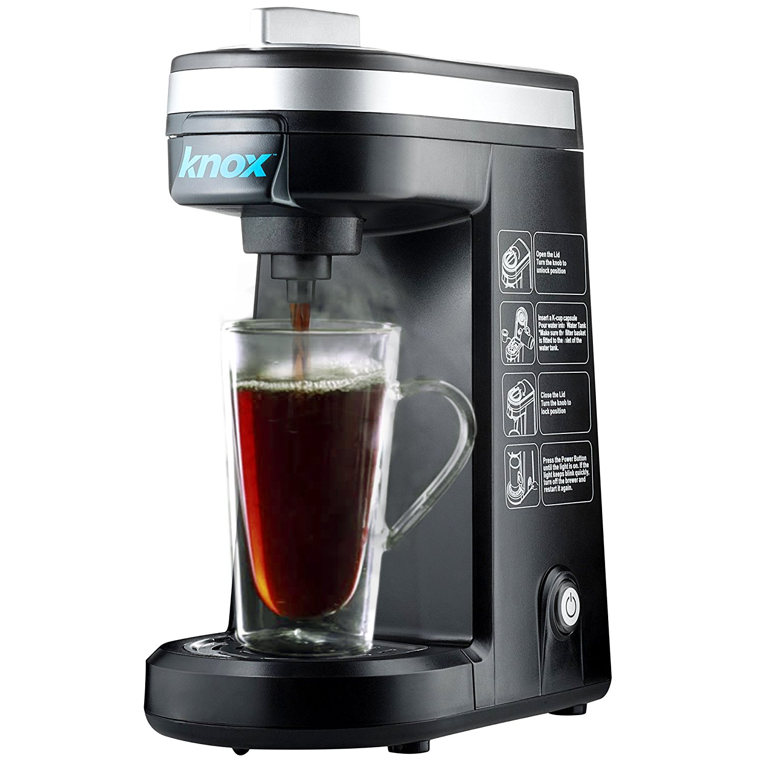 Knox Compact Travel Size K-Cup Coffee Brewer