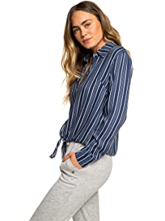 Femme You T Manches Longues Rond Pour Roxy Shirt Chasing Col 80Nnmw