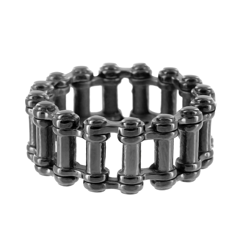 Motorcycle bike chain ring 14k black - Motorcycle Bike Chain Ring 14k Black Gold Tone Stainless Steel Mens 12 Mm Unique Amazon Com