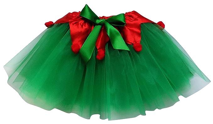 Candy Cane Tutu Christmas Crinoline Elf Red Green Adult Womens Costume Accessory