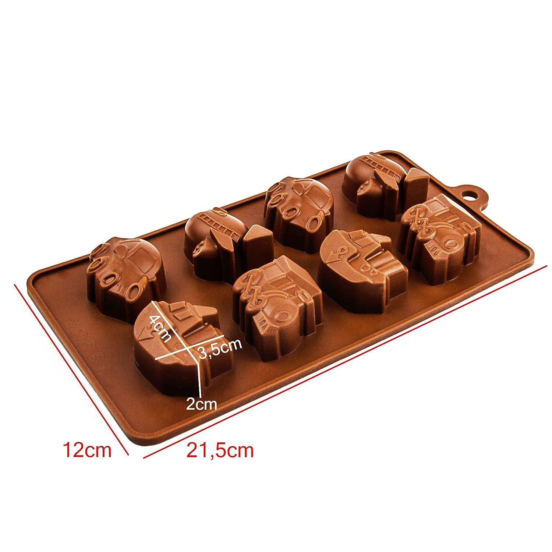 Moldes de silicona en el avión de diseño, las - cumpleaños, detalle y rica en chocolate, mazapán, cubitos de hielo, individual para magdalenas - de piedra, ...