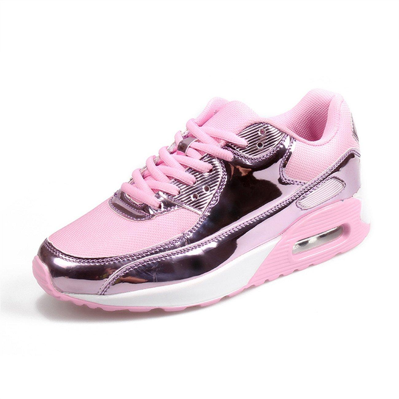 XINGLAN Men Women Unisex Couple Casual Running Sneakers Breathable Athletic Air Cushion Sports Shoes B073QVQ5B8 Women 8 B(M) US / Men 6.5 D(M) US|Pink