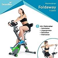 Skandika Foldaway X-3000 - fitnessbike hometrainer X-Bike F-bike inklapbaar met handpulssensoren - ergometer…