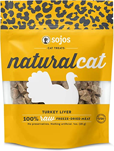 Sojos Natural Cat Turkey Liver Freeze-Dried Treats, 1 oz