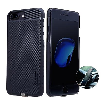 NILLKIN iPhone 7 Plus Qi Receptor, Ultra Slim Receptor de Carga inalámbrica Funda de teléfono Fuerte Funda magnética para Cargador de Coche ...