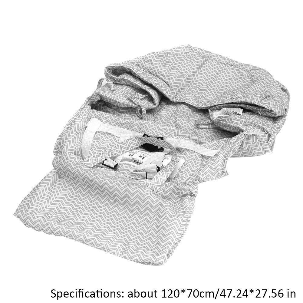 luerme Hochstuhl Abdeckung Full Sicherheitsgeschirr maschinenwaschbar f/ür Baby Kleinkind Pl/üsch Ultra Sitzkissen Warenkorb Abdeckung 100/% Obermaterial Baumwolle