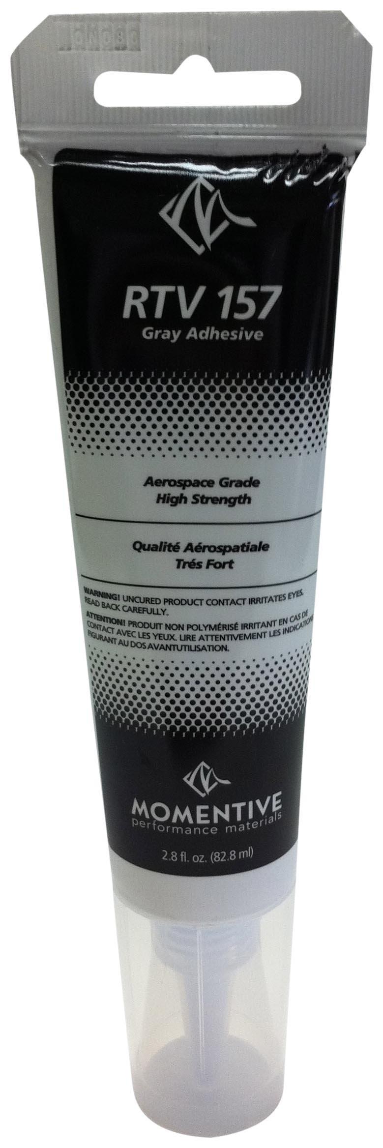 Momentive RTV 157 One Part Silicone Sealant, 2.8 Ounce Tube, Gray