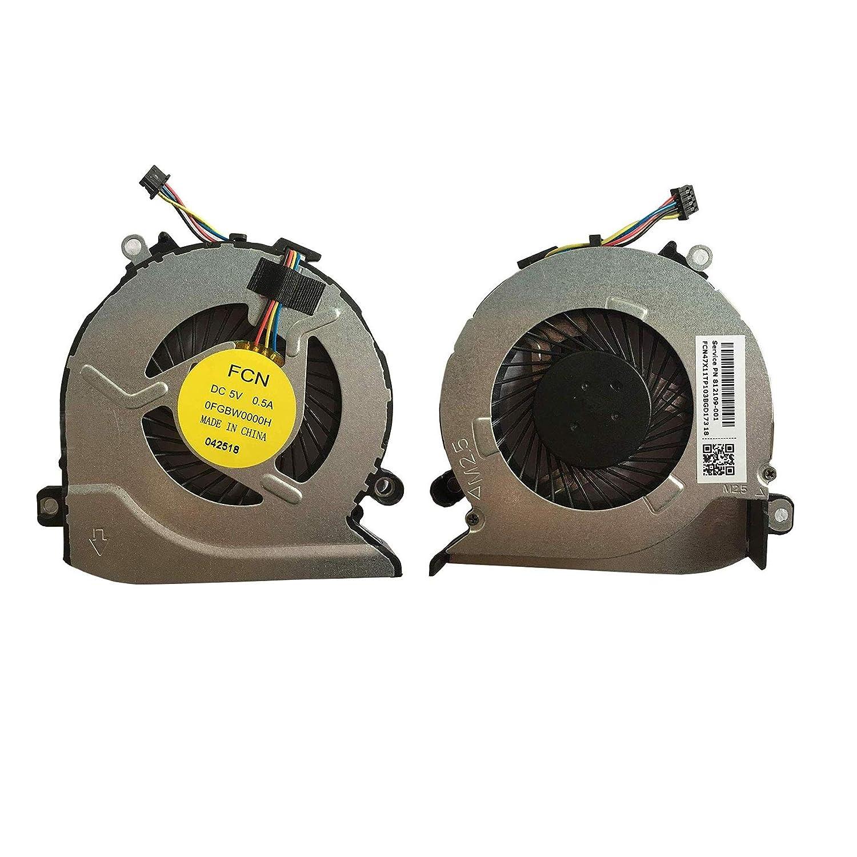 Todiys CPU Cooling Fan for HP 15-AB 15T-AB 15Z-AB 15-an 15T-an 15Z-A 17-G 17T-G 17Z-G Series 15-AB023CL 15-AB121CY 15-AB252NR 15-AN050NR 17-G015DX 17-G121WM 17-G199NR 17-G202CY 812109-001