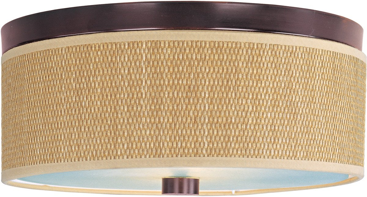 ET2 E95102-101OI Elements 3-Light Flush Mount, Oil Rubbed Bronze Finish, Glass, GU24 Fluorescent Bulb, 11.5W Max., Damp Safety Rated, 2900K Color Temp., Standard Dimmable, Glass Shade Material, 1500 Rated Lumens