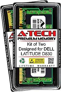 A-Tech 4GB (2 x 2GB) RAM for DELL Latitude D830 | DDR2 800MHz SODIMM PC2-6400 200-Pin Non-ECC Memory Upgrade Kit