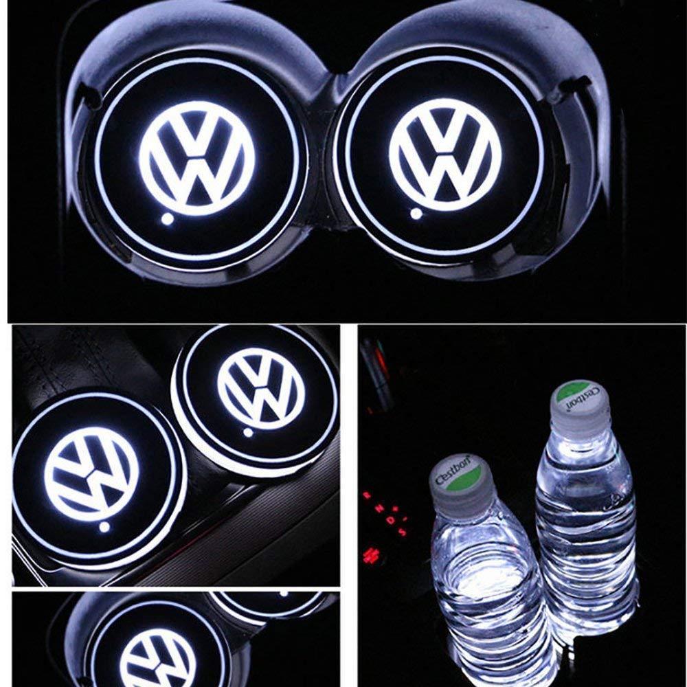 Juego de 2 luces de proyecci/ón LED universales inal/ámbricas para coche con emblema l/áser para todos los coches