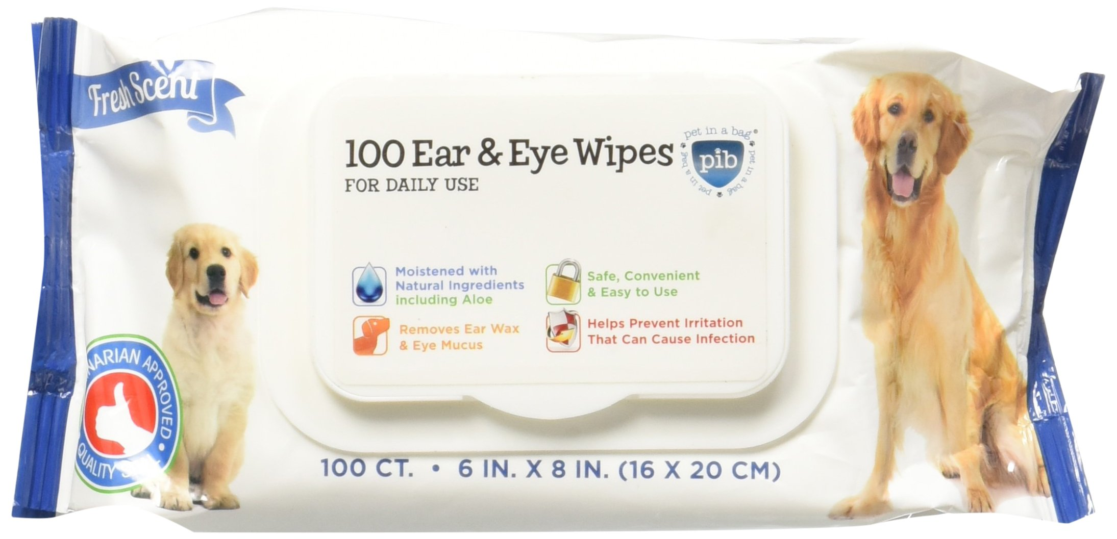 Pet in a Bag 100 Count Ear & Eye Wipes