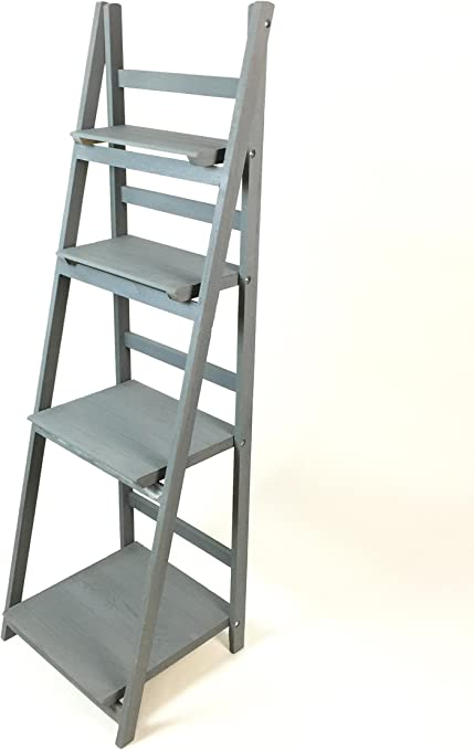 Costello® HQ 4 pisos escalera estante unidad de pantalla plegable libro Stand/estantes de pared de madera 4 niveles escalera estantería flores maceta pantalla zapatero plegable libro Stand: Amazon.es: Hogar