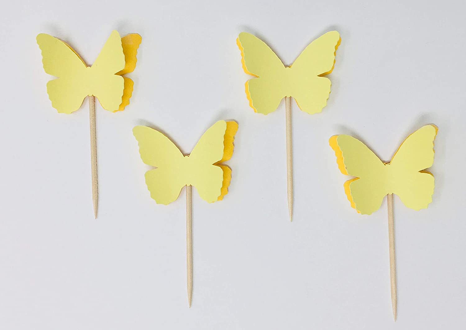Birthday and Baby Shower Decorations Butterfly Garden Cupcake Toppers 20-Pieces Set